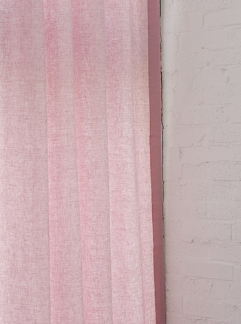 Washed Linen Strawberry Curtain