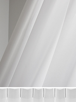 Double White Thin Curtain