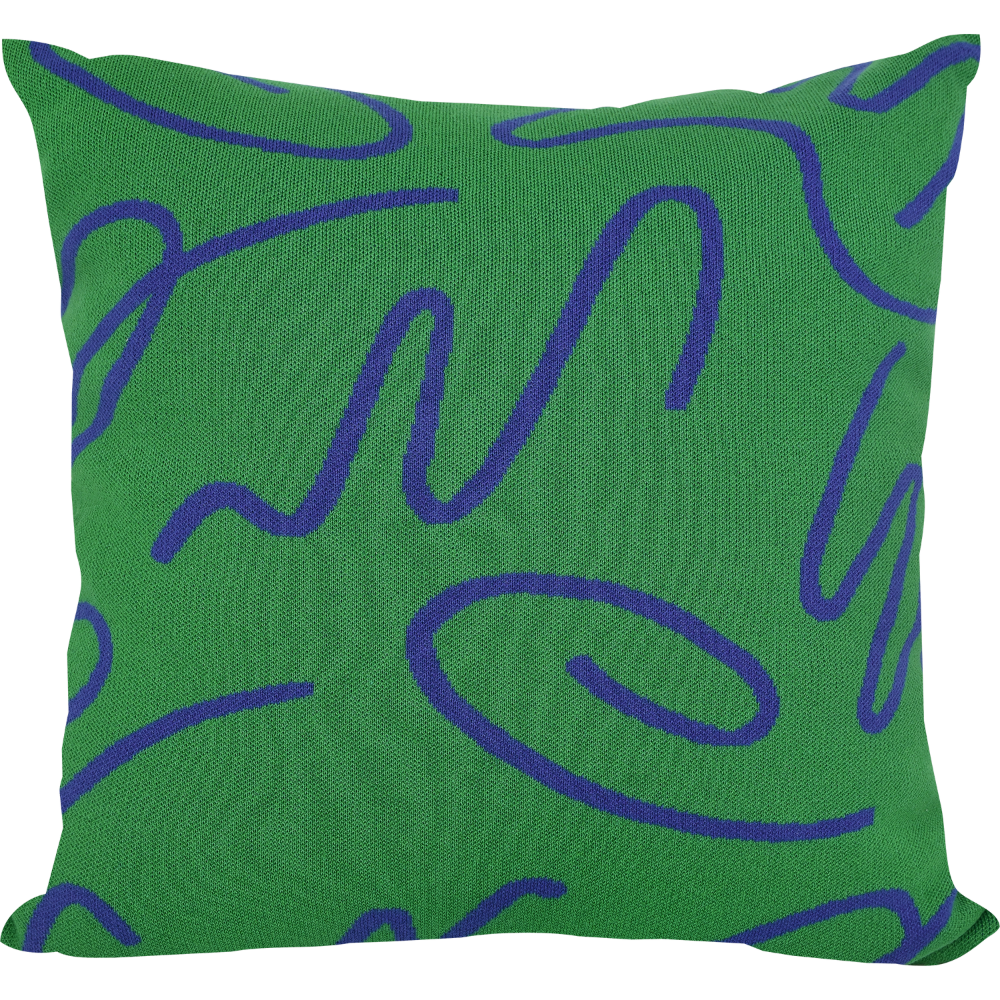 45 Waltz Green Knit Cushion by studio word