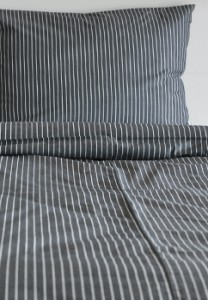 Bedding Set Gray Stripe