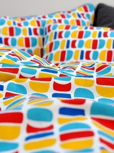Toddler Bedding Colorfulmoon by Sara Castro Monteiro