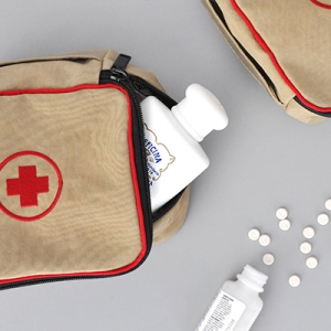 First Aid Kit BeigeMini Storage Bag