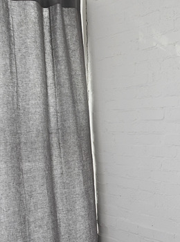Washed Linen Gray Curtain