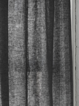 Washed Linen Charcoal Curtain