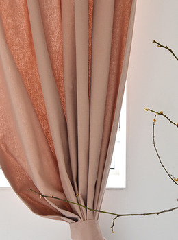 Brushed Pale Pink Curtain