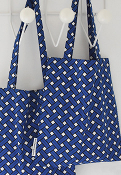 Basket Blue Bookstore Bag