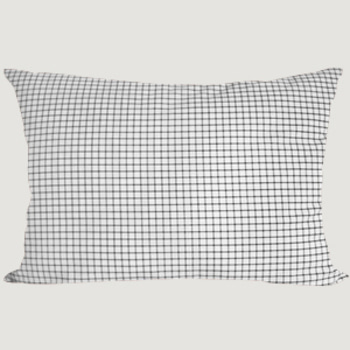 Pillowcase Black Check