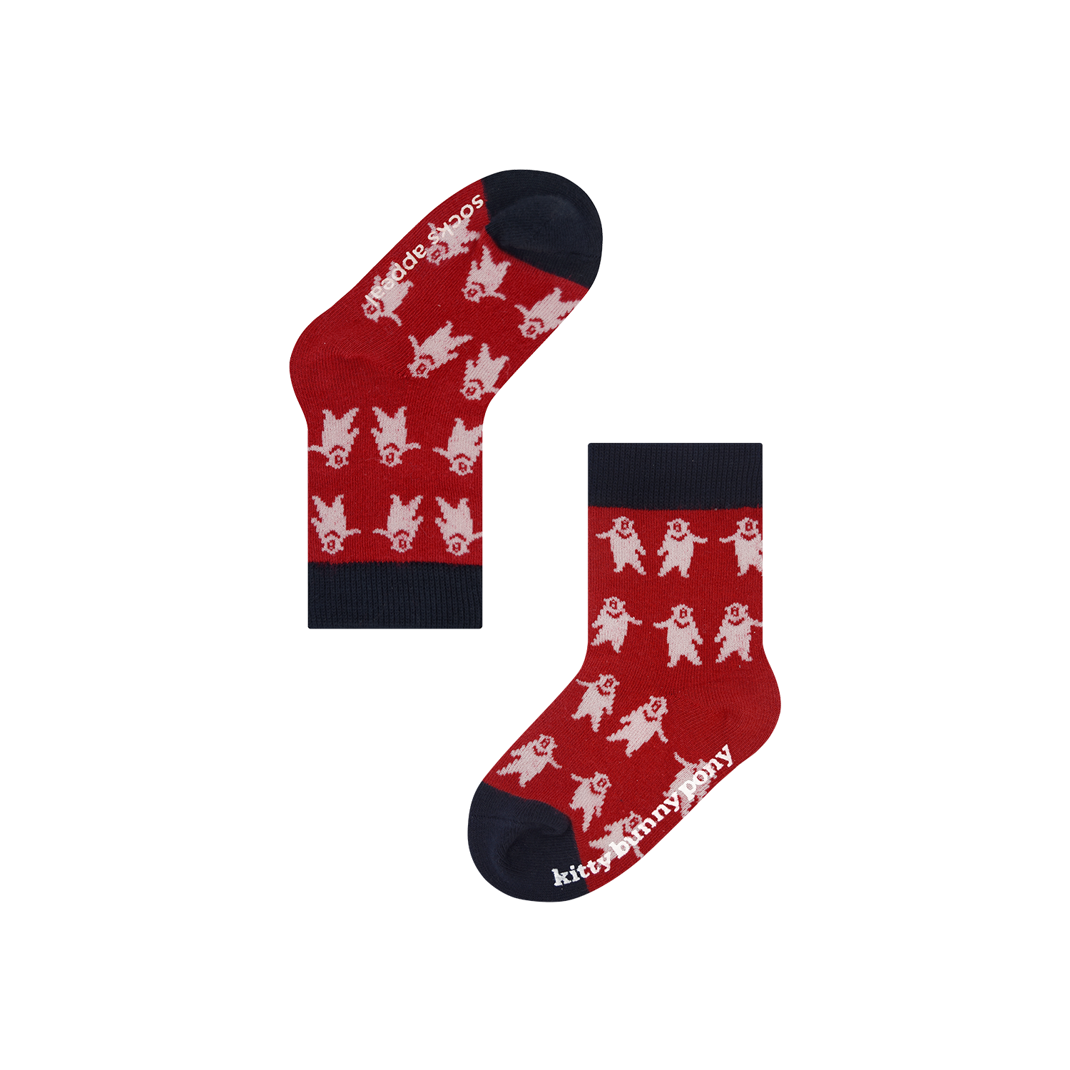 Socks Appeal X kittybunnypony CBB Red Baby Socks
