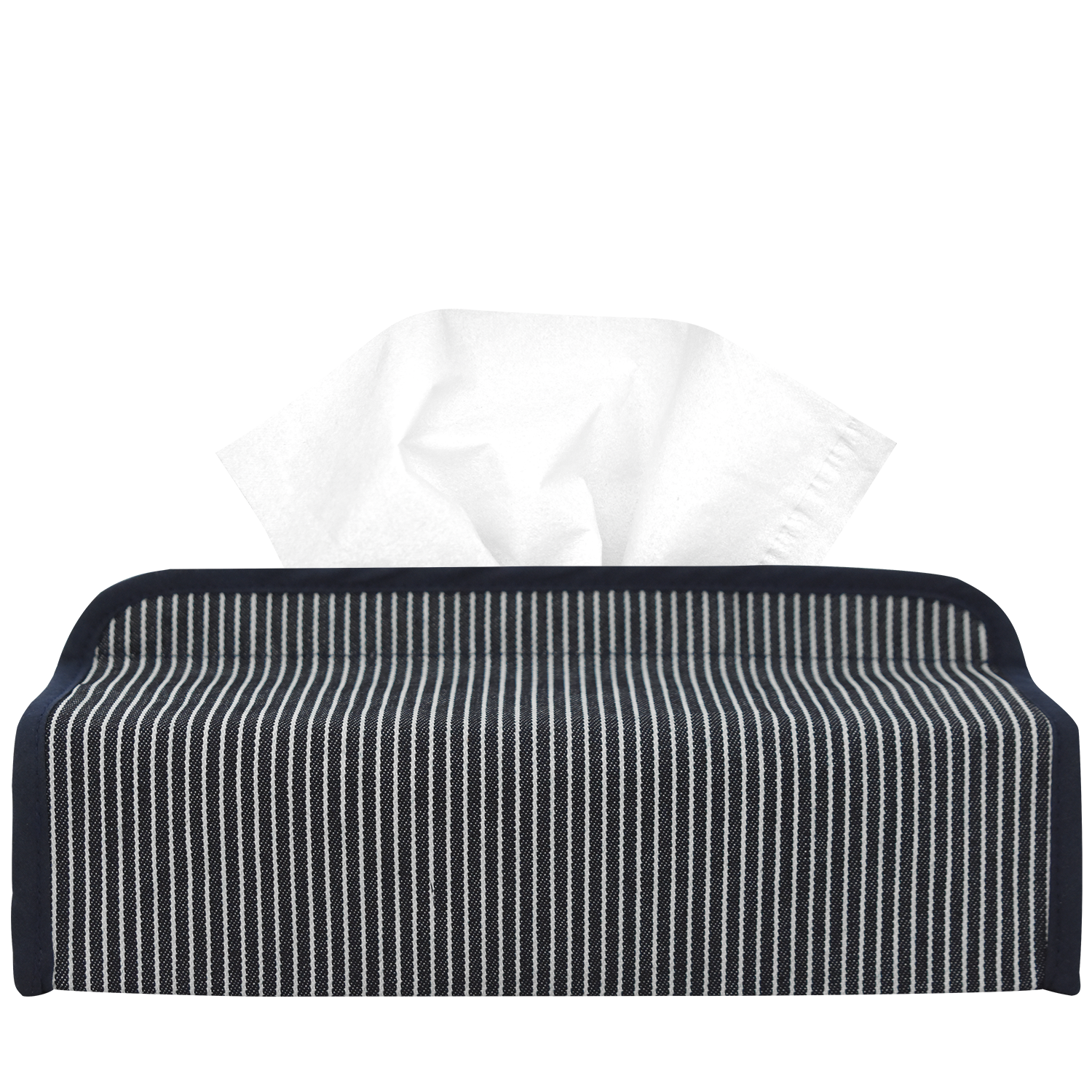 Illy Navy Low Tissuebox Cover