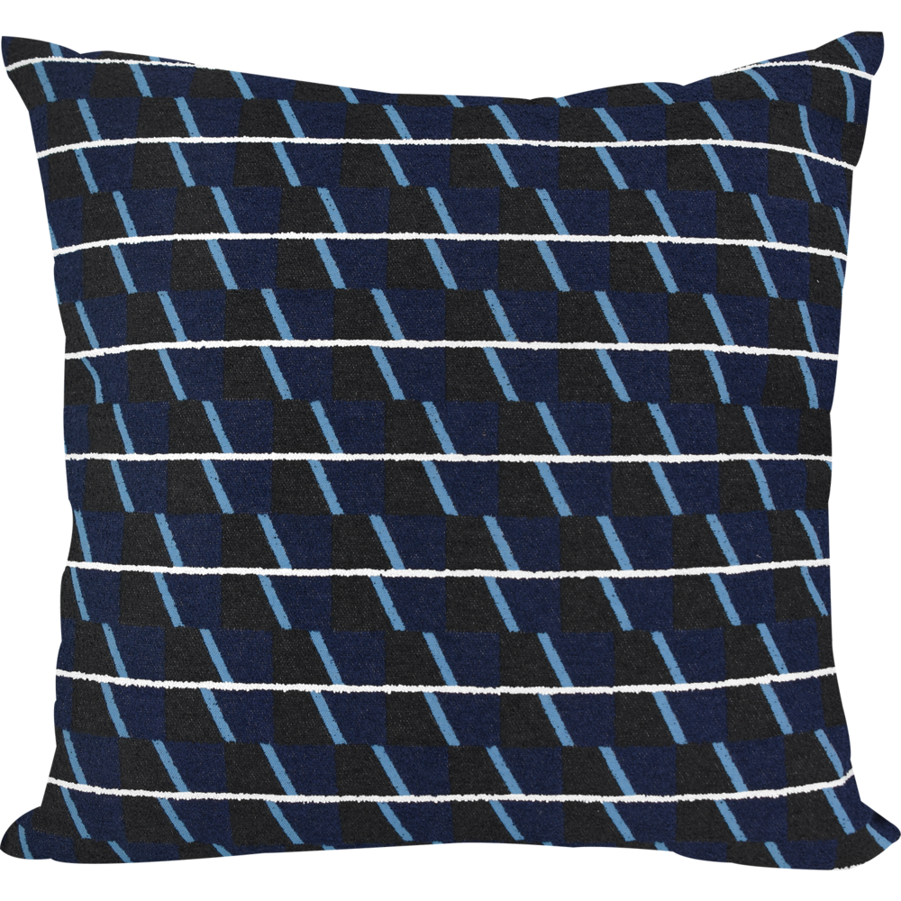 Jacquard Trivet Navy Cushion