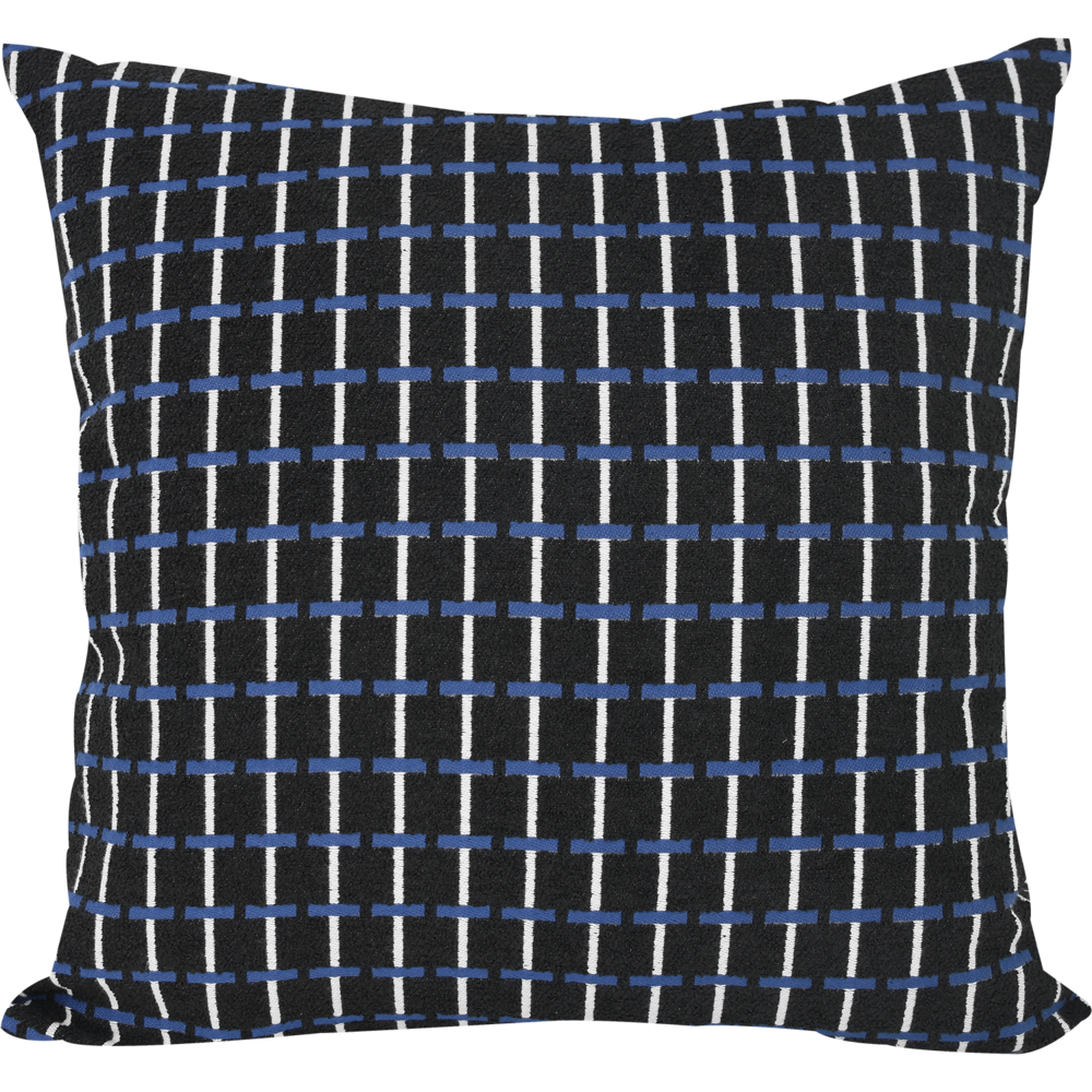 Jacquard Albers Navy Cushion