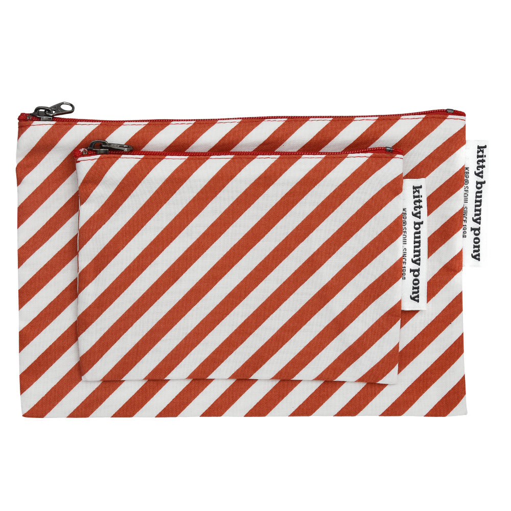 Oblique Red Pouch