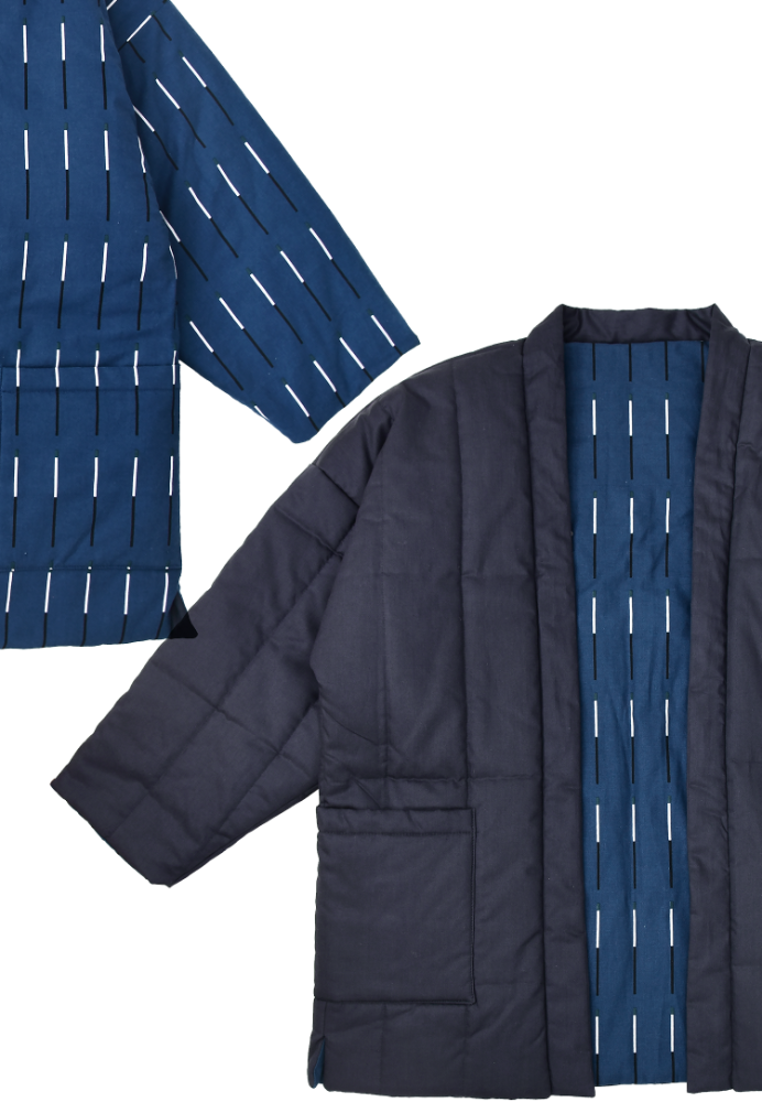 KBP X STUDIO OHYUKYOUNG Plot Blue Padding Robe for Family