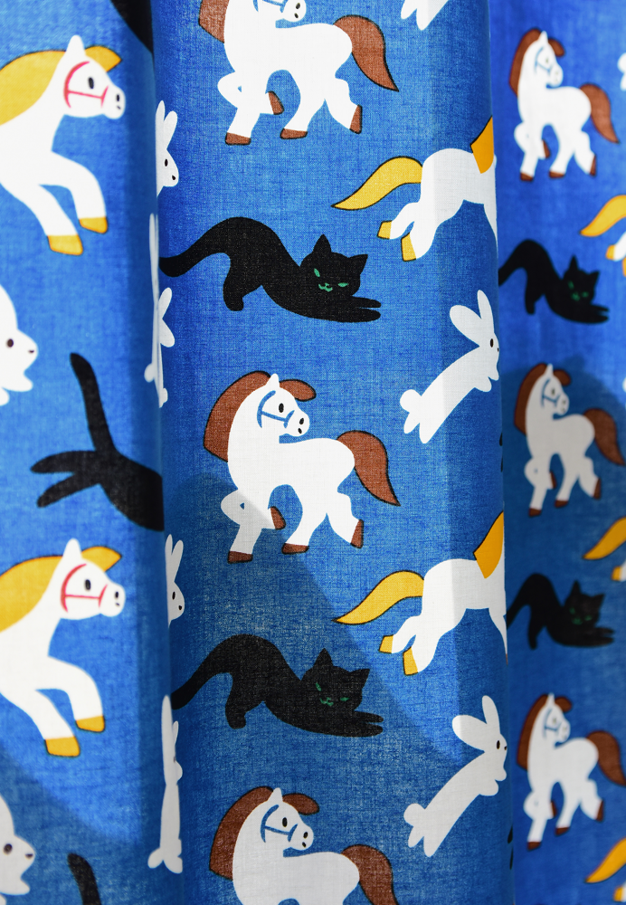 Kittybunnypony Curtain by Virginie Morgand