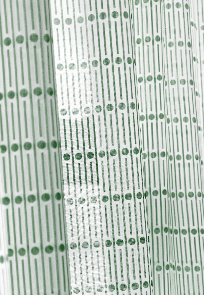 Miller Green Sheer Curtain